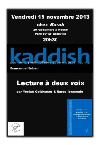 affiche kaddish black